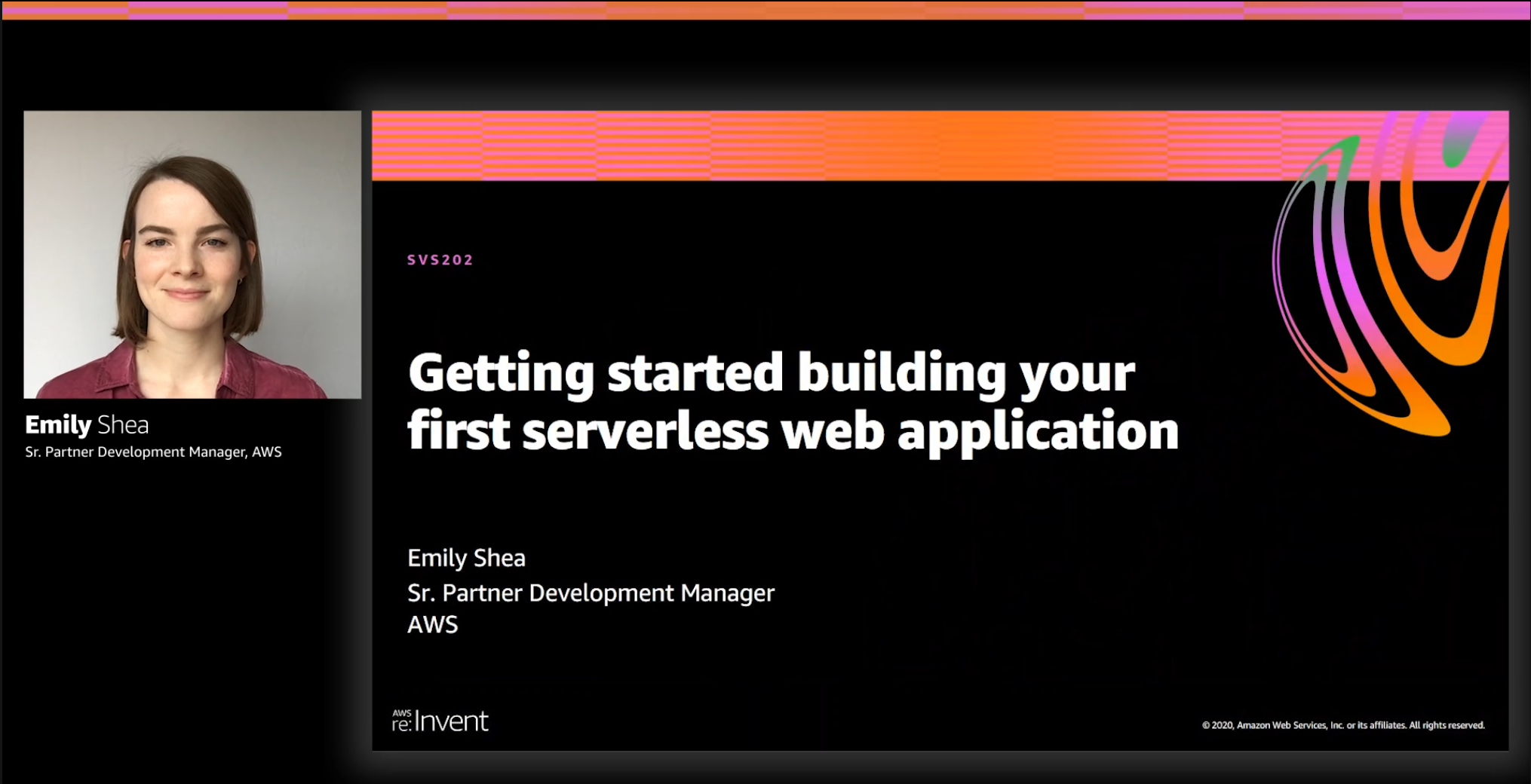 Screenshot from my reinvent talk