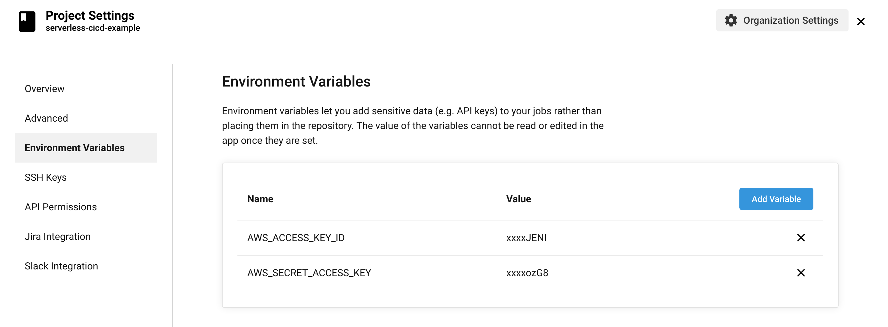 CircleCI environment variables - AWS credentials